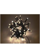 LAMPKI LED NA PĘTLI, Z FLESHEM, 100 PUNKTÓW ŚWIETLNYCH W KOLORZE ZIMNY BIAŁY