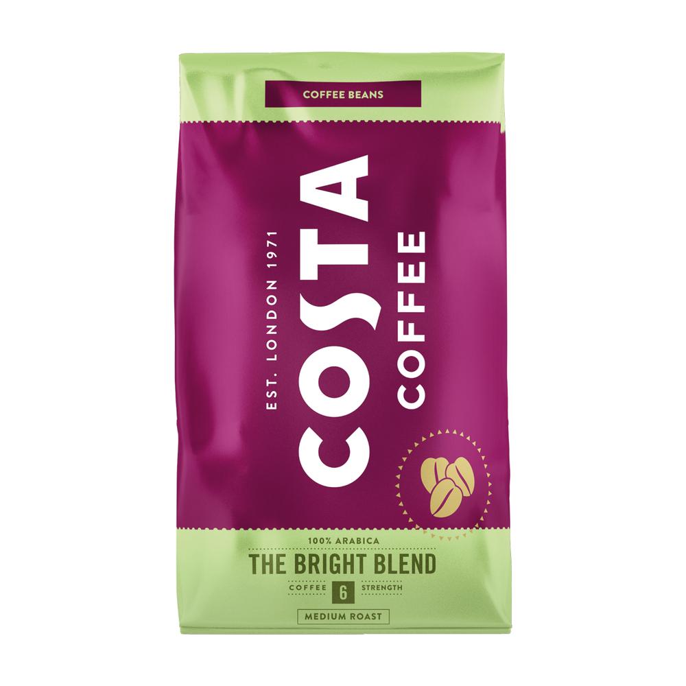COSTA COFFEE THE BRIGHT BLEND 6 100% ARABICA ZIARNA 1KG