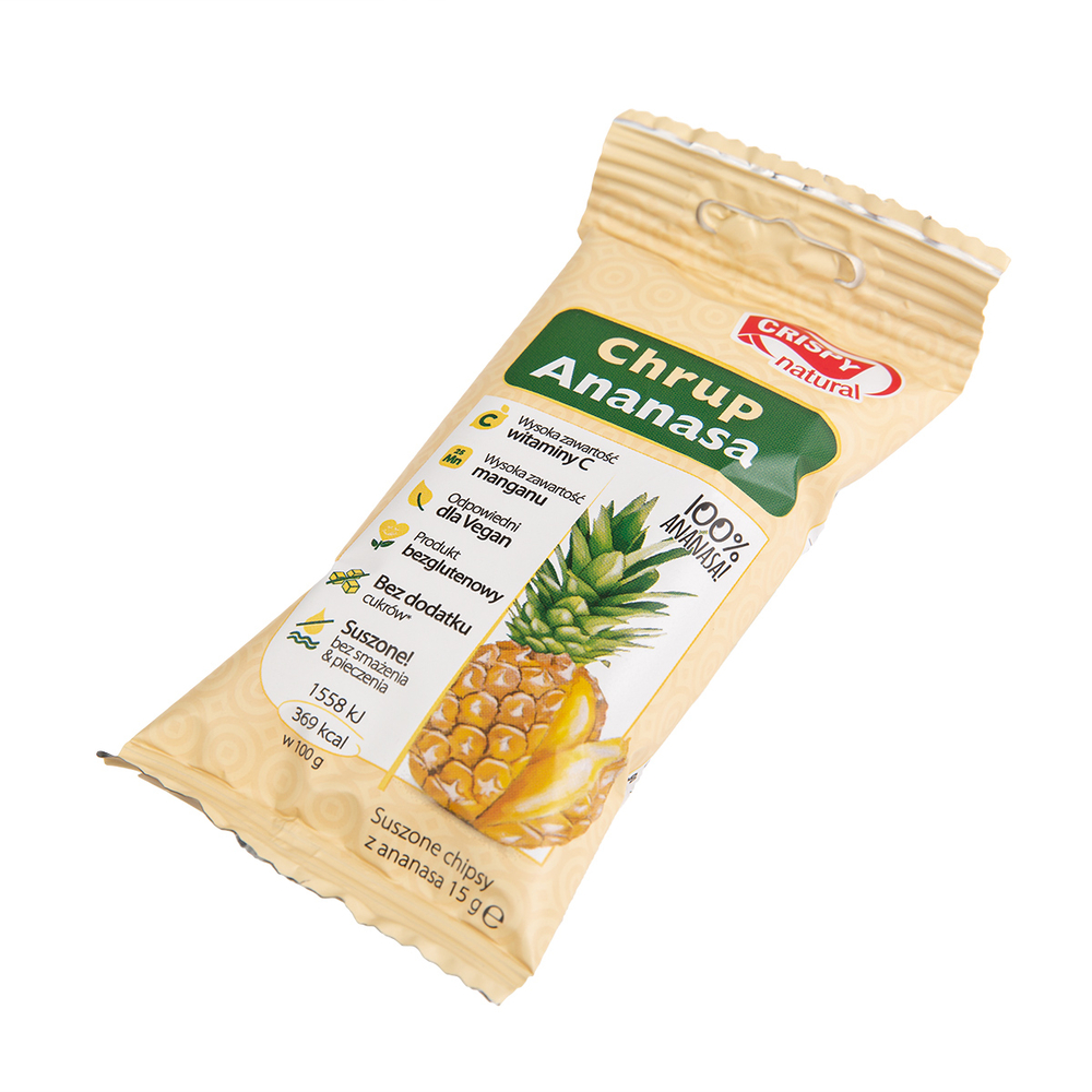 CRISPY NATURAL CHIPSY Z ANANASA 15G