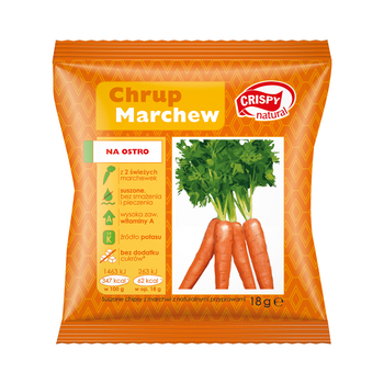 CRISPY NATURAL CHIPSY Z MARCHWI NA OSTRO 18G