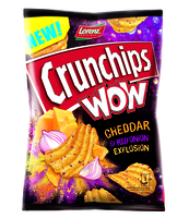 CRUNCHIPS WOW CHEDDAR & RED ONION 110G