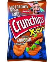 CRUNCHIPS X-CUT O SMAKU KURCZAKA 140G