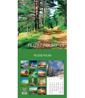 KALENDARZ ŚCIENNY 13 PLANSZOWY 30X30CM MIESIĘCZNY DAN-MARK PEJZAŻ POLSKI / PEJZAŻ W MALARSTWIE / POLSKA PODRÓŻE PO KRAJU