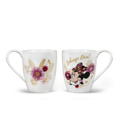 KUBEK PORCELANOWY 400ML MINNIE FLOWERS GOLD