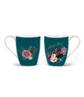 KUBEK PORCELANOWY 400ML MINNIE FLOWERS GREEN