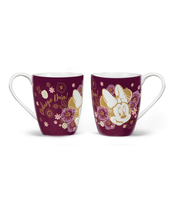 KUBEK PORCELANOWY 400ML MINNIE FLOWERS PURPLE