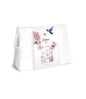 DOVE FW MEDIUM WASHBAG 1 (SG+BL+DEO) - GLOWING RITUAL SG 250ML + GLOWING RITUAL BL 250ML+ INVISIBLE CARE FLORAL TOUCH DEO 150ML - BIRDS SLEEVE DESIGN