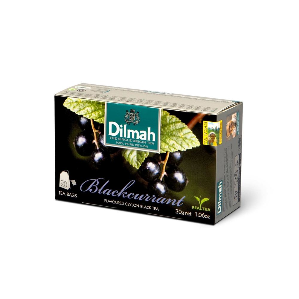 DILMAH BLACKCURRANT FLAVOURED BLACK TEA 20X1,5 G