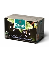DILMAH BLACKCURRANT FLAVOURED BLACK TEA 20X2 G