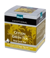 DILMAH EXCEPTIONAL CEYLON GREEN TEA 20X2 G