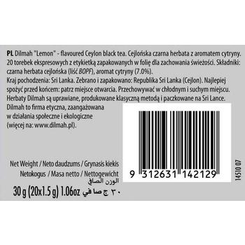 DILMAH LEMON FLAVOURED BLACK TEA 20X1,5 G
