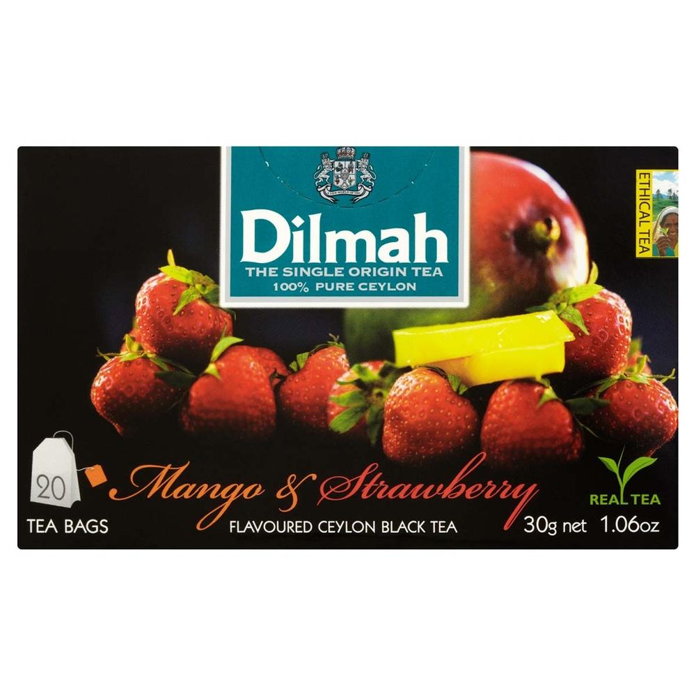 DILMAH MANGO & STRAWBERRY FLAVOURED BLACK TEA 20X1,5 G