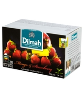 DILMAH MANGO & STRAWBERRY FLAVOURED BLACK TEA 20X2 G