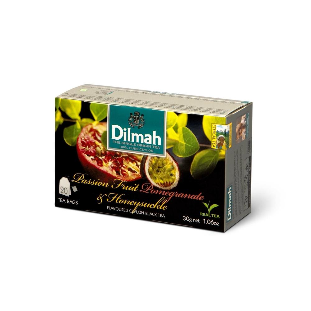 DILMAH PASSION FRUIT POMEGRANATE & HONEYSUCKLE FLAVOURED BLACK TEA 20X1,5 G