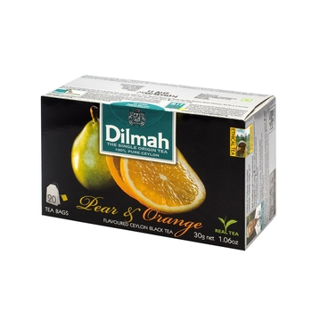 DILMAH PEAR & ORANGE FLAVOURED BLACK TEA 20X1,5 G