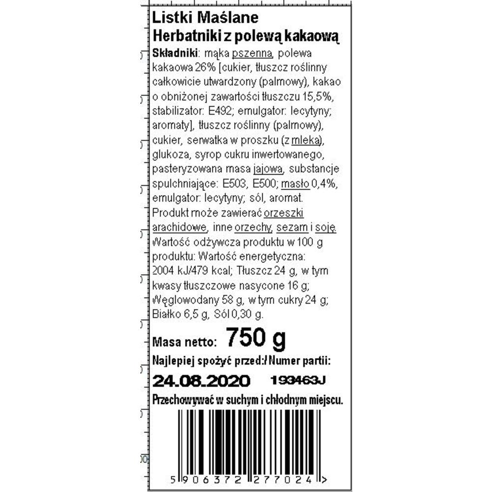 DR GERARD - LISTKI KRUCHE MAŚLANE 750G