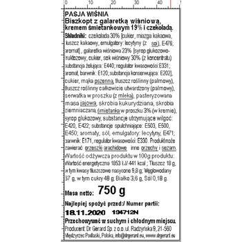 DR GERARD PASJA WIŚNIOWA 750G
