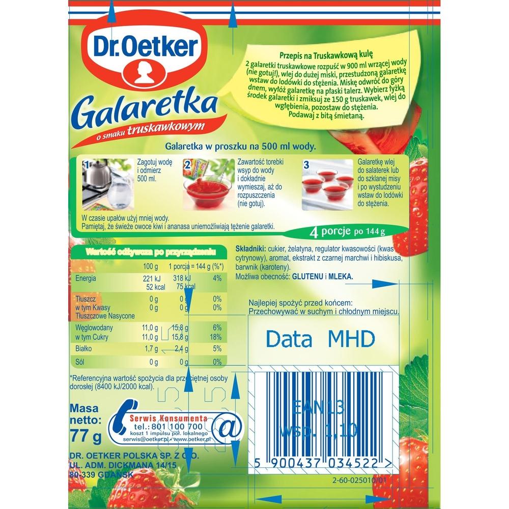 DR. OETKER GALARETKA O SMAKU TRUSKAWKOWYM 77G