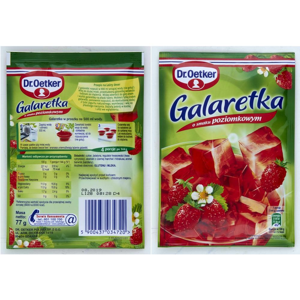 DR. OETKER GALARETKA POZIOMKOWA 77G