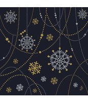 DUNI SERWETKI D-SOFT 40X40CM SNOW NECKLACE BLACK 12SZT.