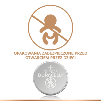 BATERIA SPECJALISTYCZNA LITOWA GUZIKOWA PASTYLKOWA DURACELL TYP 2025