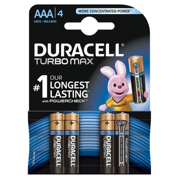 BATERIE ALKALICZNE DURACELL TURBO MAX TYP AAA