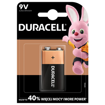 BATERIE ALKALICZNE DURACELL TYP 9V