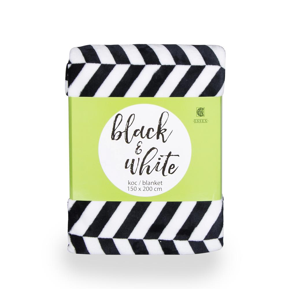 KOC BLACK&WHTIE 150X200 BIAŁO-CZARNY