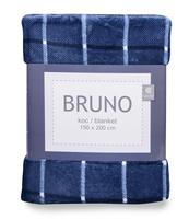 KOC BRUNO 150X200 CM, GRANATOWY