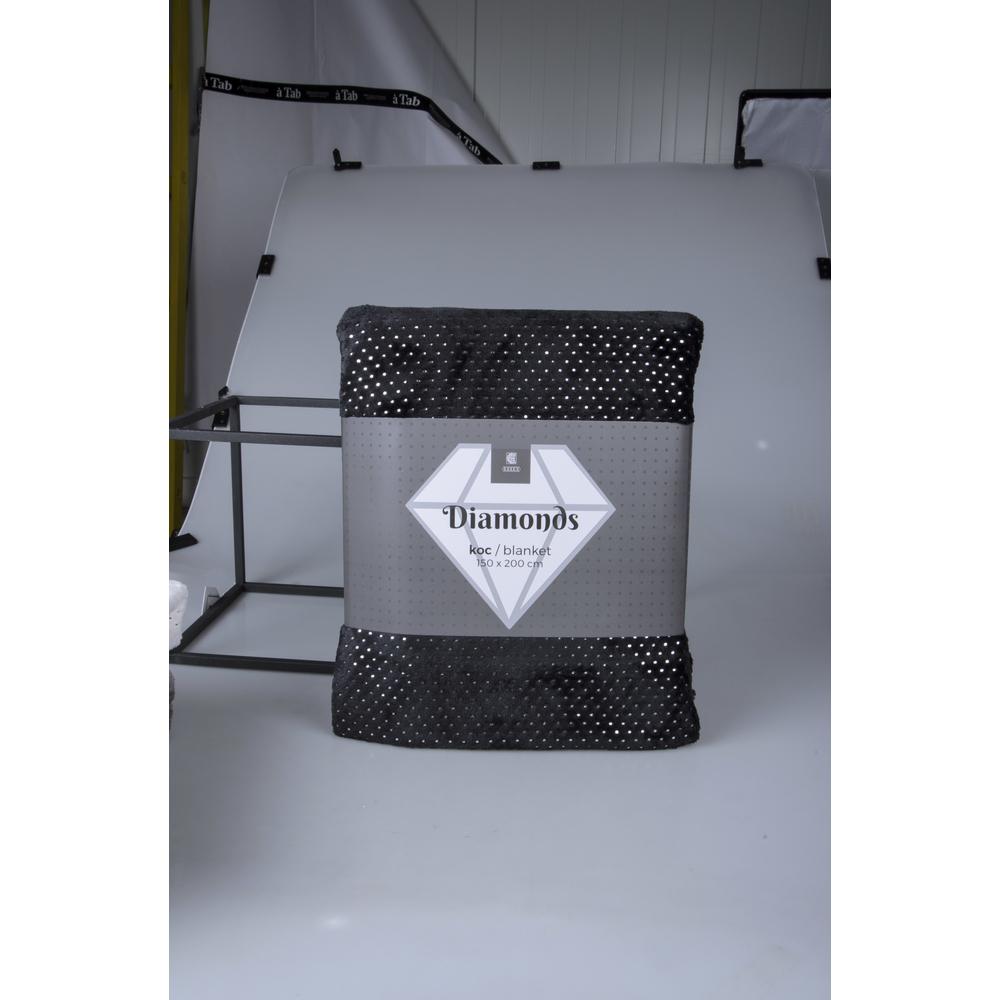KOC DIAMONDS 150X200 CM CZARNY