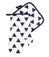 SET KUCHENNY 2-CZĘŚCIOWY BLACK & WHITE GRAFITOWY
