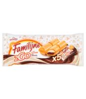 FAMILIJNE 2GO MLECZNO CZEKOLADOWE WAFELEK Z NADZIENIAMI 100 G (5 SZTUK)