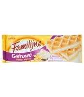 FAMILIJNE WAFLE GOFROWE O SMAKU WANILIOWYM 6X 150G