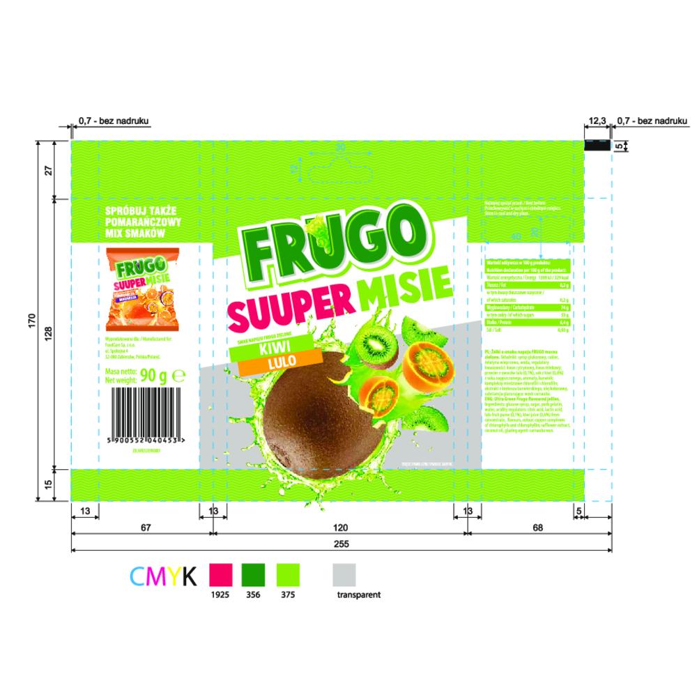 FRUGO SUUPER MISIE SMAK NAPOJU FRUGO ZIELONE 90 G