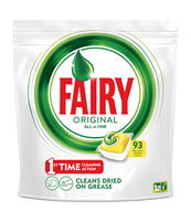 FAIRY ORIGINAL ALL IN ONE LEMON TABLETKI DO ZMYWARKI 93 SZTUKI