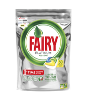FAIRY PLATINUM ALL IN ONE LEMON KAPSUŁKI DO ZMYWARKI 50 SZTUK