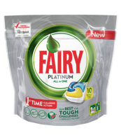 FAIRY PLATINUM ALL IN ONE LEMON KAPSUŁKI DO ZMYWARKI 10 SZTUK