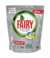 FAIRY PLATINUM ALL IN ONE LEMON KAPSUŁKI DO ZMYWARKI 45 SZTUK