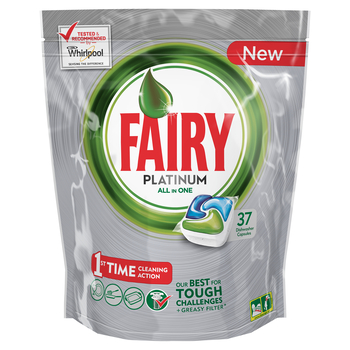 FAIRY PLATINUM ALL IN ONE REGULAR KAPSUŁKI DO ZMYWARKI 37 SZTUK