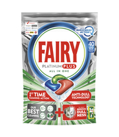 FAIRY PLATINUM PLUS ALL IN ONE KAPSUŁKI DO ZMYWARKI, 40 KAPSUŁEK