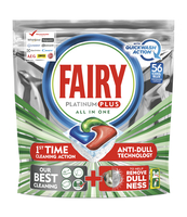 FAIRY PLATINUM PLUS ALL IN ONE KAPSUŁKI DO ZMYWARKI, 56 KAPSUŁEK