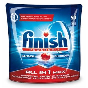 FINISH POWERBALL ALL IN 1 MAX SHINE&PROTECT TABLETKI DO ZMYWAREK 940 G (50 SZTUK)
