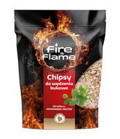 CHIPSY (ZRĘBKA) DO WĘDZENIA - DREWNO BUK 400 G FIRE&FLAME