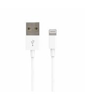 FOREVER KABEL USB - LIGHTNING 1,0 M 1A BIAŁY SILIKONOWY PŁASKI
