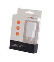 ŁADOWARKA SIECIOWA FOREVER USB 1A +KABEL IPHONE 5/6/7 BIAŁA LIGHTNING TC02
