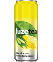 FUZETEA LEMON LEMONGRASS 330ML CAN X24