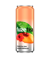 FUZETEA PEACH HIBISCUS 330ML CAN X24