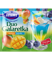 GELLWE DUO GALARETKA SMAK MANGO JAGODA 75 G (50 G + 25 G)