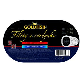 FILETY Z SARDYNKI W SOSIE POMIDOROWYM 170 G GOLDFISH