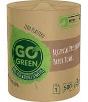 GO GREEN RĘCZNIK PAPIEROWY 1 ROLKA 500 LISTKÓW 2-WARSTWOWY